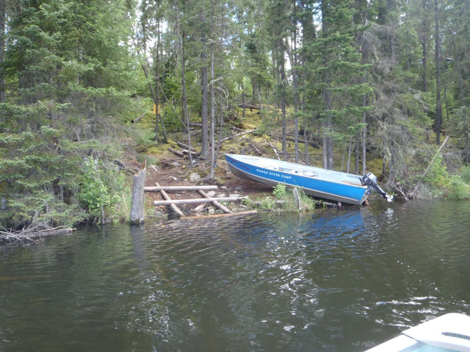 Portage lake remote fishing boating trips in ontario for Portage lakes fishing
