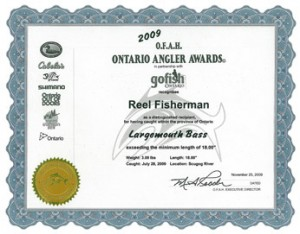 Register for ontario angler awards before your canada for Ontario fishing license
