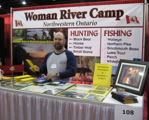Woman River Camp booth at the All Canada Show