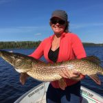 Beth with a 44 inch Northern pike
