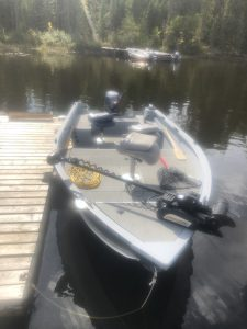 G3 outfitter with a 50 hp yamaha motor. Lots of space and storage